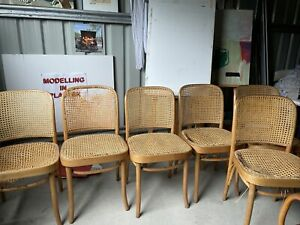 Set Of 6 Thonet No. 811 Hoffman Chairs Rattan Dining RRP $567 Ea $3400 Set