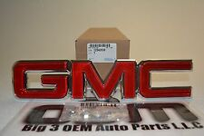 1988-1998 GMC Sierra / Yukon 1996-2002 Savana Red & Chrome GRILLE EMBLEM new OEM