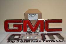 1988-1998 GMC Sierra / Yukon 1996-2002 Savana Red & Chrome GRILLE EMBLEM new OEM