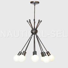 Modern Brass 8Globe Sputnik Chandelier Light Fixture Sputnik Starburst Chandelie