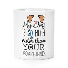 My Dog Is Cuter Than Your Boyfriend Brown Ears Makeup Brush Pencil Pot