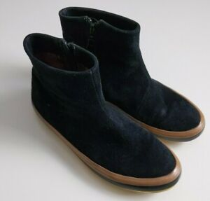 Camper Womens US 8 EUR 38 Side Zip Black Suede Ankle Boots Shoes Booties