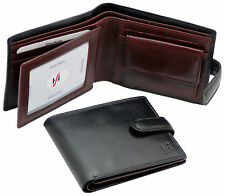 STARHIDE MENS REAL LEATHER TRIFOLD WALLET WITH ID & COIN POCKET GIFT BOXED 835