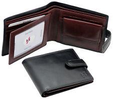 Starhide Uomo Vera Pelle Custodia TRIPLA Portafoglio Con ID & Tasca Monete in Scatola Regalo 835