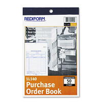 """""""Rediform Purchase Order Book, Bottom Punch, 2Part Carbonless, 50 Forms"""""""