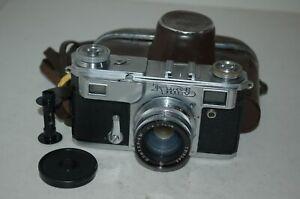 Kiev-4a Vintage 1959 Soviet Rangefinder Camera, Case. Serviced. 5915312. UK Sale