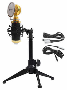 Rockville RCM02 PC Gaming Twitch Microphone Streaming Recording Game Mic+Tripod
