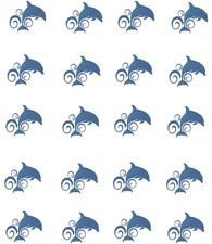Dolphin Waterslide  / Water Transfer Nail Decals/Nail art