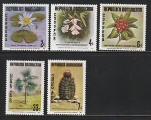 Dominica Rep.   1977   Sc # 787-89,C259-60   Flowers   VLH   (54711)
