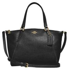 NWT Coach F28994 Pebble Leather Mini Kelsey Satchel Shoulder Purse Handbag Black