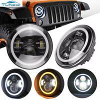 2Pcs 7 Pouces Halo Anneau Angel Eye LED Lampe Phare Pour Jeep Wrangler JK TJ LJ