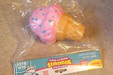 Slow Rise Jumbo Squishy Ice Cream Cone Soft 'N Slo Pink Rize Stress Relief Ball