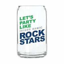 """""""Lets Party Like Video Game Rock Stars"""" Glass Can, Gift, New in Box, LOT of 6"""