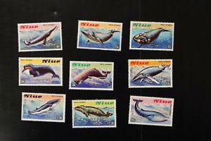 Niue #380-8 1983 VF MNH whales set 2017 cv$22.70 (k415)