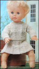 Knitting Pattern * BABY DOLLS CLOTHES * Câblés costume jupe et pull * 12/16/20""