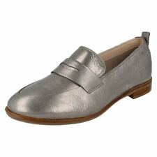 Mocassini da donna Clarks in argento