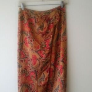 Victoria Secret Silk Vintage Wrap Skirt S