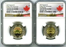 Battle of Vimy+Dance Canada+In Flanders Fields UNC 3 OF CANADA TOONIE $2 COINS