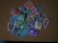 20 DIFFERENT BRITISH GUIANA,U/M,USED,MAINLY LARGE,EXCELLENT.
