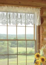 "Heritage Lace White PINECONE Window Valance 60"" W x 16"" L"