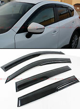 JDM MUGEN 3D STYLE SMOKED WINDOW VISOR VENT SHADE GUARD FOR 2006-12 TOYOTA RAV4