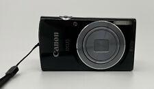 Canon IXUS 145 Digicam Digitalkamera 16MP 8x Opt. Zoom HD Kompaktkamera Schwarz