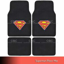 WB Superman Carpet Floor Mats for Car SUV - Front & Rear Full Set