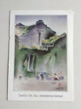 POSTCARD - Vietnamese Silk Painting of a 'Well in Hoi An'