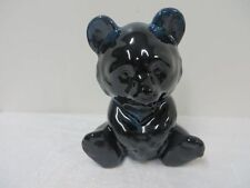 Blue Mountain Pottery Cobalt Blue Sitting Teddy Bear BMP