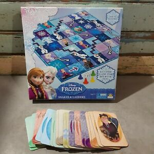 Disney Frozen Snakes & Ladders Board Game COMPLETE + 22 Memory Game Cards