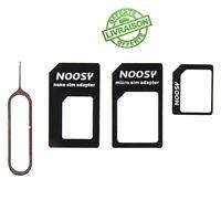 Adaptateur 4 en 1 Carte SIM NANO MICRO iPhone Samsung Téléphone Universelle