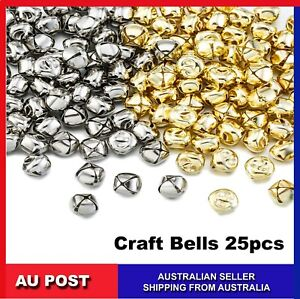 24pcs Craft Bell Assorted Silver Gold Colours 2cm