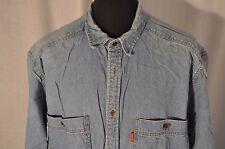 Vintage Levis blue denim western shirt size XL grunge trucker