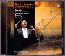 Mariss JANSONS Signed BARTOK Concerto for Orchestra Miraculous Mandarin RAVEL CD