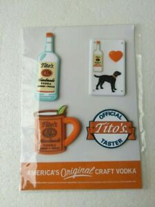 Tito's Vodka Promotional Kit | Magnets + Stickers + Recipes/Postcards | New