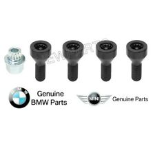 For BMW 2003+ Locking Wheel Lock Lug Bolts OEM Set Lugs+Key anti Theft Antitheft