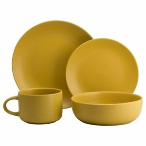 16 Piece Dinnerware Set, Service for 4 Wickham