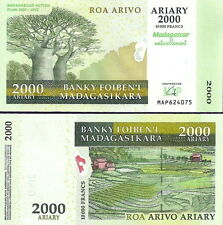 MADAGASCAR - 5000 Ariary (10.000 francs) 2012 FDS - UNC