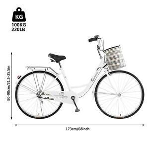 "City Bike Bicycle 26"" Beach Urban Commute Women Classic Retro Bicycle Cycling US"