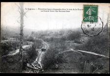 ARGONNE (55) VOIE FERROVIAIRE dans BOIS de LA GRURIE / 1° LIGNE ALLEMANDE