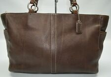 Coach Chelsea Dark Brown XL Zip Shoulder Tote Bag Shopper 11347