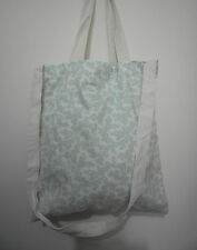 Cotton Linen Tote Shopping Handbag Shoulder Bag Women Girls Purse-Blue Coral