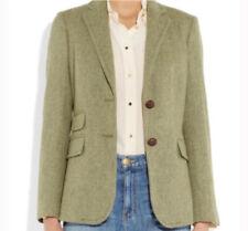 Nwt J Crew Hacking Jacket Green Wool Herringbone Size 2 Equestrian