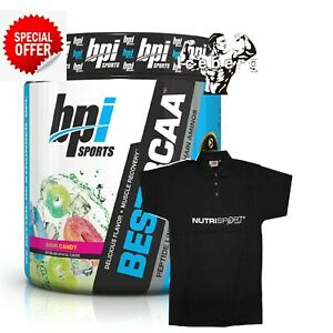 BPI Sports Best BCAA Amino Acids SOUR CANDY & T SHIRT FLAVOUR Offer Expiry 06/20