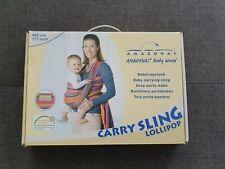 Tragetuch Amazonas, bunt gestreift, Carry Sling Lollipop 450 cm, unbenutzt