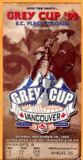 1999 GREY CUP CFL FOOTBALL GAME TICKET STUB-11/28/99