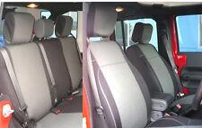 Jeep Wrangler Unlimited JK 2007-10 Neoprene Full Set Seat Cover 4 Dr Charcoal no