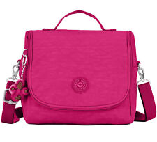 NWT KIPLING Kichirou Lunch Bag Handbag Insulated Berry Pink w/Monkey