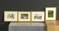 en1043cjaSw7Japanese framed woodblock print Ido Masao Kyoto scene A set of 4