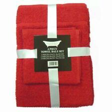 Juego de toallas de baño y albornoces color principal rojo 100% algodón